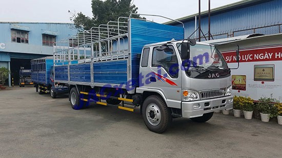 Xe tải jac 8t4 thùng mui bạt