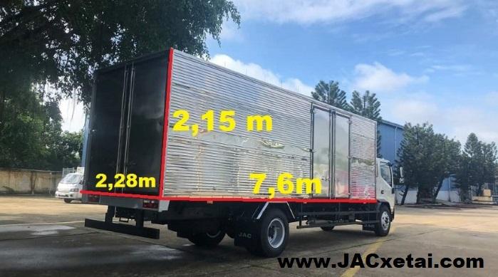 xe tai jac n800 thùng kín